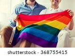 close up of male gay couple... | Shutterstock . vector #368755415