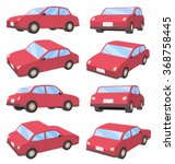 set of various angles of 3d car ... | Shutterstock .eps vector #368758445