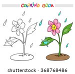 coloring book or page. flower... | Shutterstock .eps vector #368768486