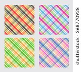 big plaid pattern set plaid... | Shutterstock .eps vector #368770928