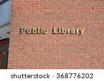 public library signage | Shutterstock . vector #368776202