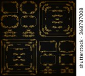 vector set of gold decorative... | Shutterstock .eps vector #368787008