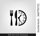 fork knife clock icon vector.   Shutterstock .eps vector #368790722