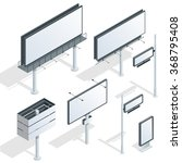 city light billboard. flat 3d... | Shutterstock .eps vector #368795408