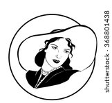 vector woman in a hat | Shutterstock .eps vector #368801438