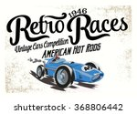 Vintage Race Car For Printing...