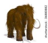 Постер, плакат: Rendering of a Mammoth