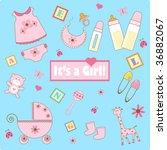 baby girl elements   Shutterstock .eps vector #36882067