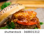 burger with meat cutlet ... | Shutterstock . vector #368831312