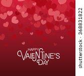hand drawn valentines day... | Shutterstock .eps vector #368831822