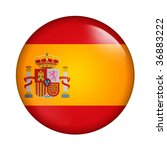 circle button flag of spain | Shutterstock . vector #36883222