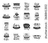 vector calligraphy. hand drawn... | Shutterstock .eps vector #368841302