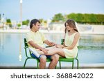 beautiful young dating couple... | Shutterstock . vector #368842022
