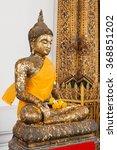 golden buddha. sculpture in... | Shutterstock . vector #368851202