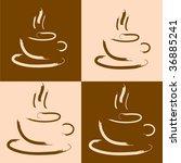 coffee background | Shutterstock .eps vector #36885241
