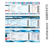 train tickets vector set.... | Shutterstock .eps vector #368855372