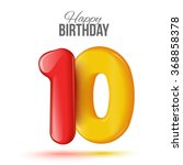 sample greeting card to the 10... | Shutterstock .eps vector #368858378
