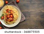 spaghetti pasta with tomato... | Shutterstock . vector #368875505