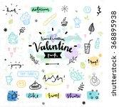 hand drawn decoration elements...   Shutterstock .eps vector #368895938