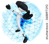virtual reality device headset...   Shutterstock . vector #368897192