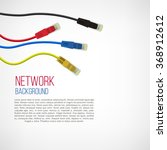 network background. patch cord. ... | Shutterstock .eps vector #368912612