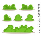 set of bushes in hand drawn... | Shutterstock .eps vector #368922992