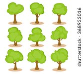 set of trees in hand drawn... | Shutterstock .eps vector #368923016