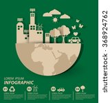 ecology concept. save world... | Shutterstock .eps vector #368924762