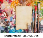 brush and paper on oil paint... | Shutterstock . vector #368933645