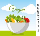 vegan food design  | Shutterstock .eps vector #368952932