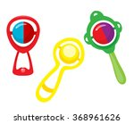 set of multi colored rattles | Shutterstock .eps vector #368961626