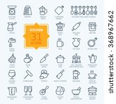 outline icon collection  ... | Shutterstock .eps vector #368967662