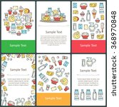 vector set of prepared cards... | Shutterstock .eps vector #368970848