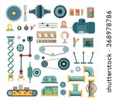 parts of machinery and robot... | Shutterstock . vector #368978786