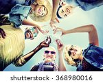 beach cheers celebration... | Shutterstock . vector #368980016