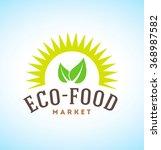 eco food vector logo | Shutterstock .eps vector #368987582