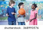 smiling multi ethnic kids... | Shutterstock . vector #368993576
