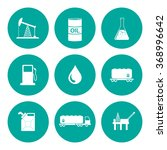oil and petroleum icon set.... | Shutterstock . vector #368996642