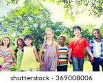 diverse children friendship... | Shutterstock . vector #369008006