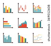 graphs and data icon set.... | Shutterstock . vector #369012608