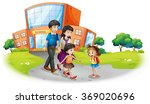family members in front of the... | Shutterstock .eps vector #369020696