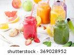 smoothies  juices  beverages ... | Shutterstock . vector #369028952