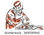 sketch master lefty guy at work ...   Shutterstock .eps vector #369030965