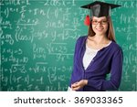 graduating student girl. | Shutterstock . vector #369033365