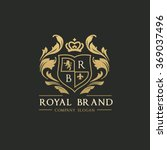 royal brand luxury crest logo... | Shutterstock .eps vector #369037496