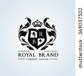 royal brand luxury crest logo... | Shutterstock .eps vector #369037502