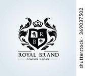 royal brand logo crown logo... | Shutterstock .eps vector #369037502