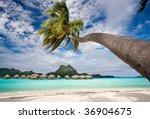 beach resort in bora bora...   Shutterstock . vector #36904675