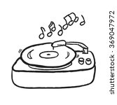 doodle turntable record player... | Shutterstock .eps vector #369047972