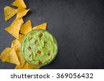 Guacamole And Nachos On Slate